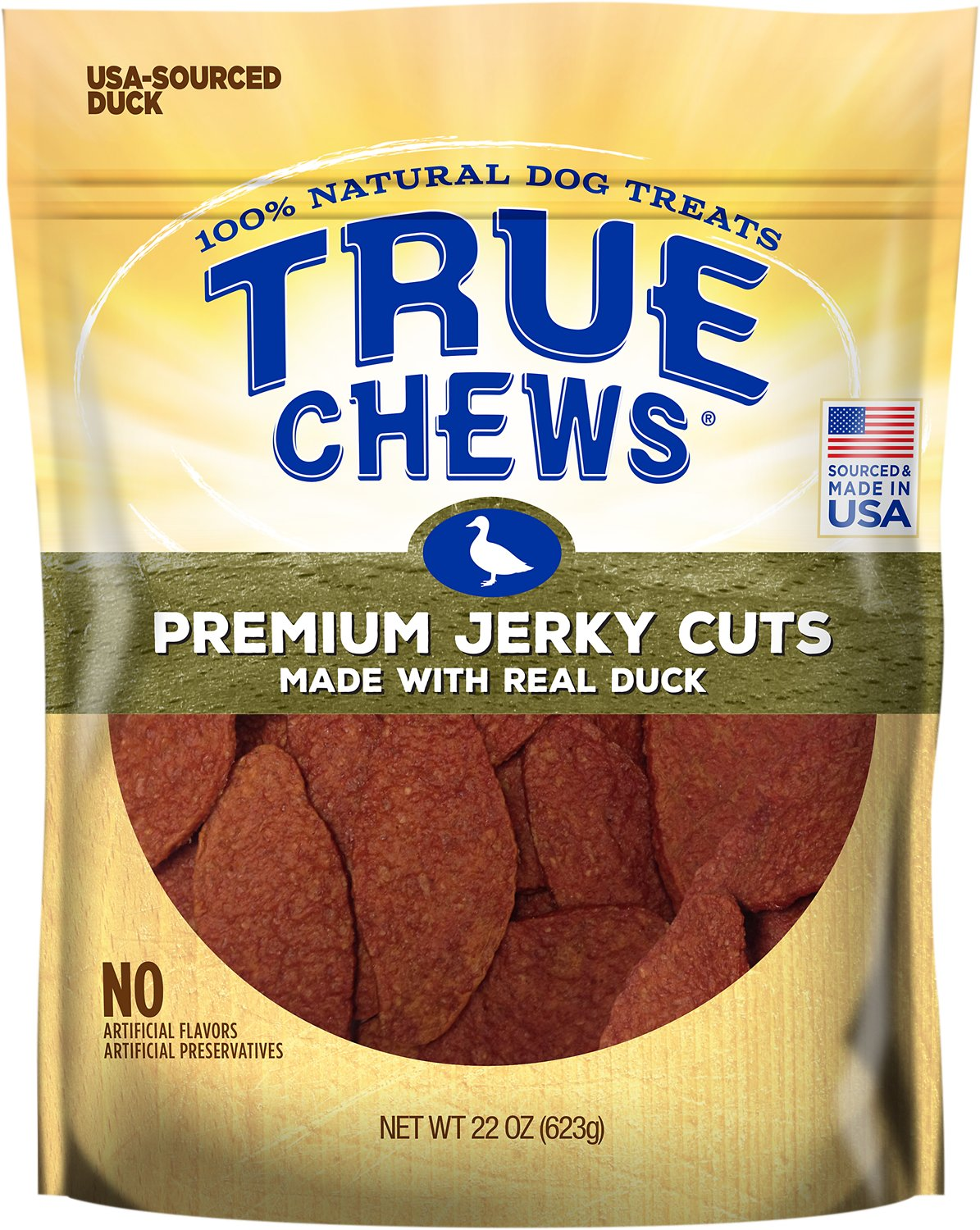 True Chews Premium Jerky Cuts with Real Duck Dog Treats Image