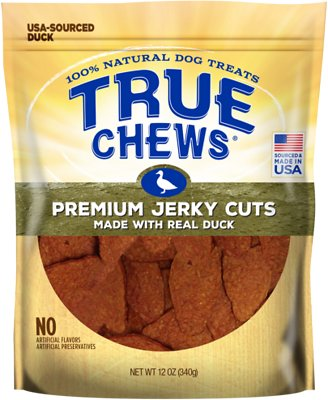 True Chews Premium Jerky Cuts with Real Duck Dog Treats, 12-oz
