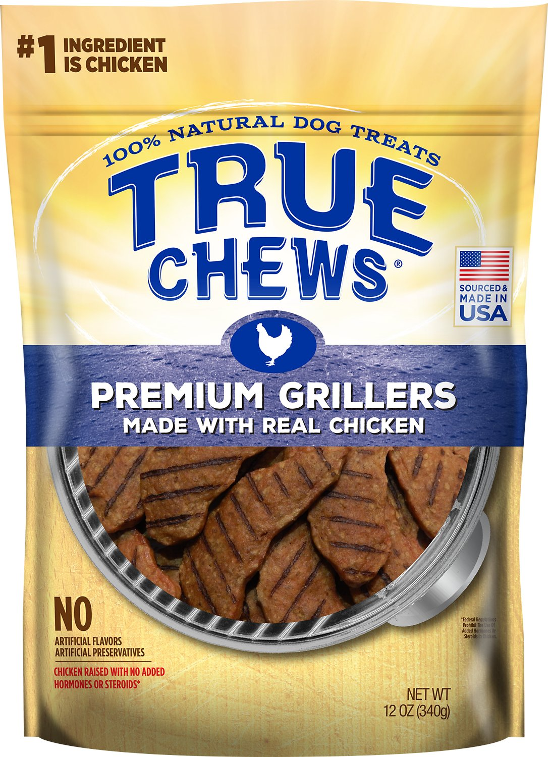 True Chews Premium Grillers with Real Chicken Dog Treats, 12-oz bag (Weights: 12 ounces) Image