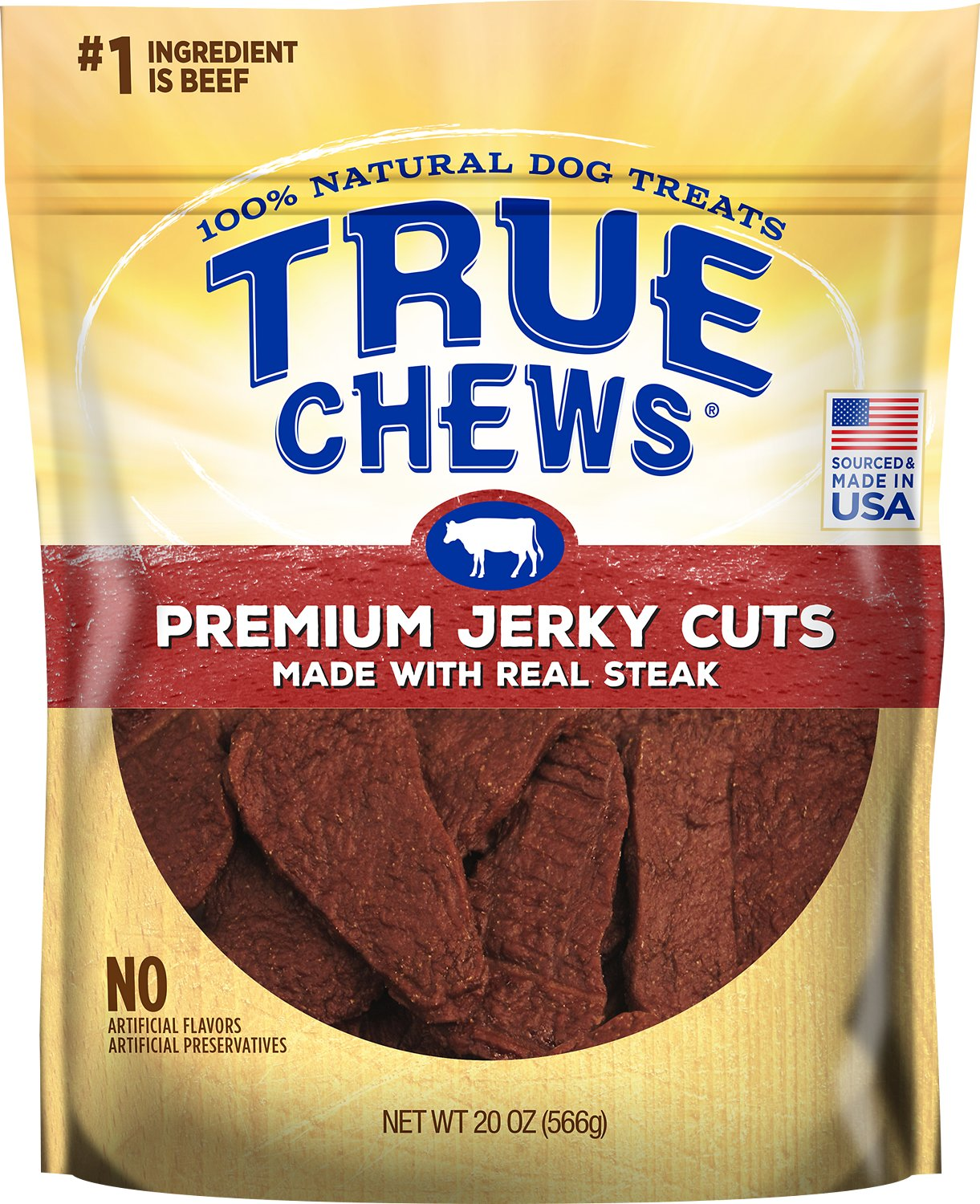 True Chews Premium Jerky Cuts with Real Sirloin Steak Dog Treats Image