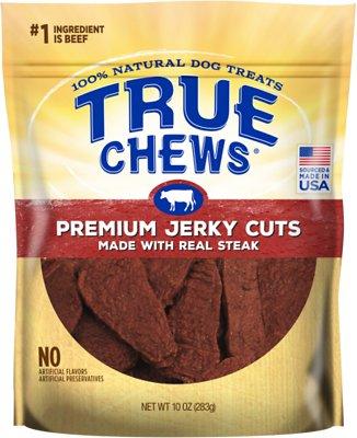True Chews Premium Jerky Cuts with Real Sirloin Steak Dog Treats, 10-oz bag