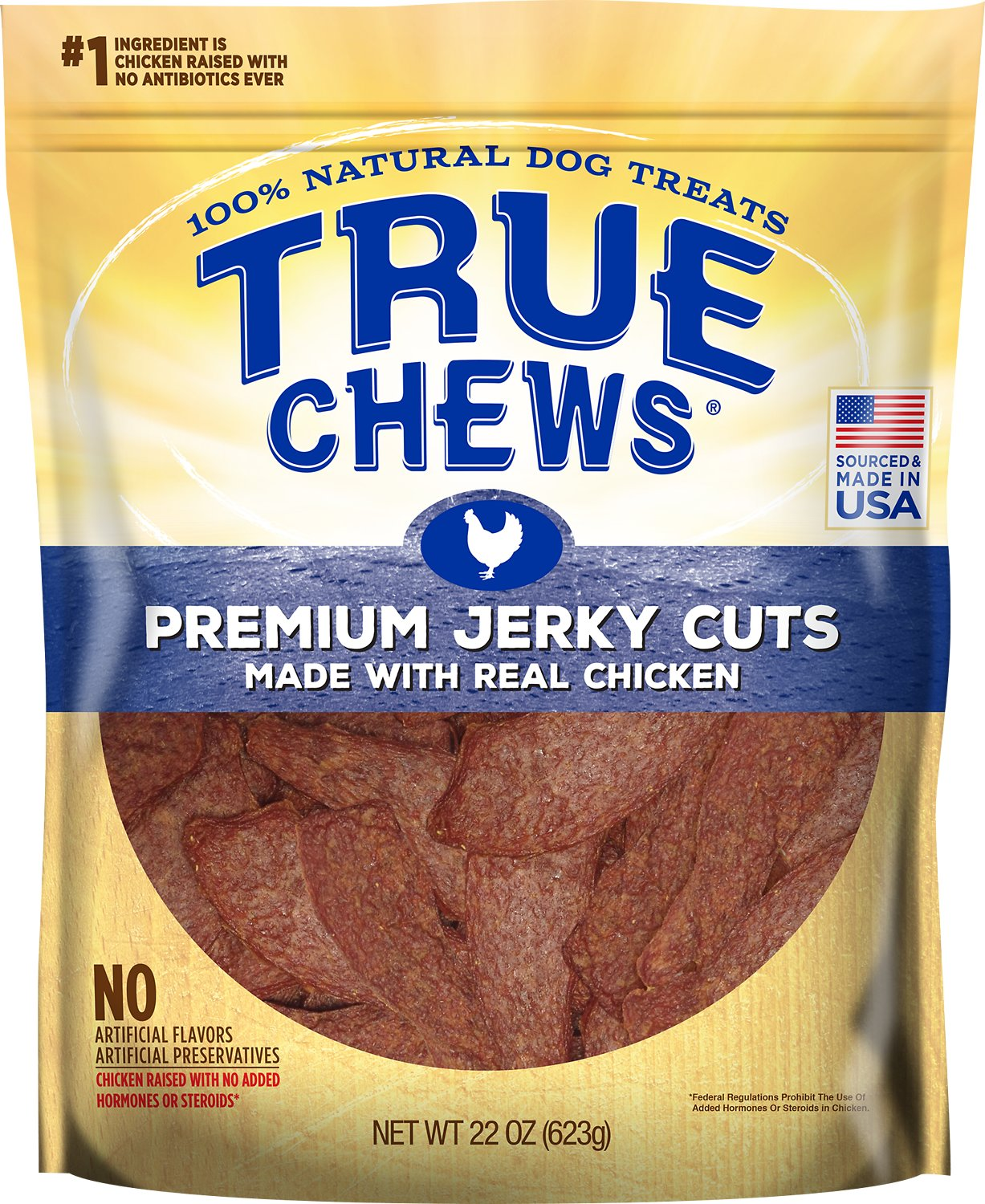 True Chews Premium Jerky Cuts with Real Chicken Dog Treats Image