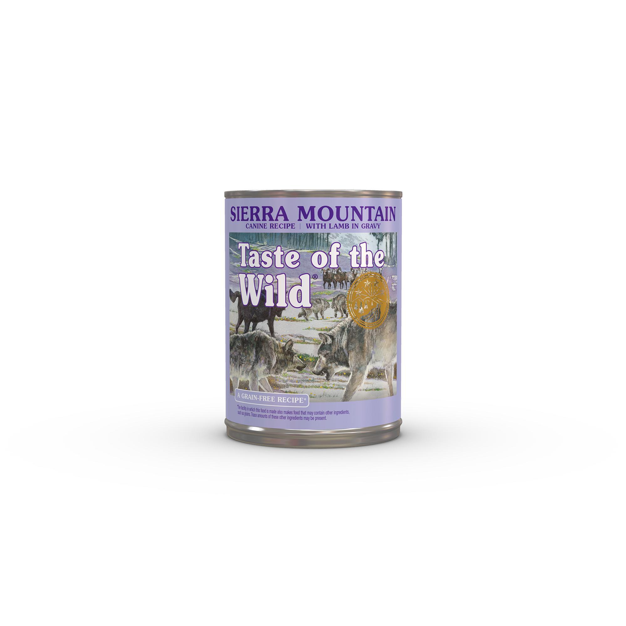 Taste of the Wild Sierra Mountain Grain-Free Canned Dog Food, 13.2-oz