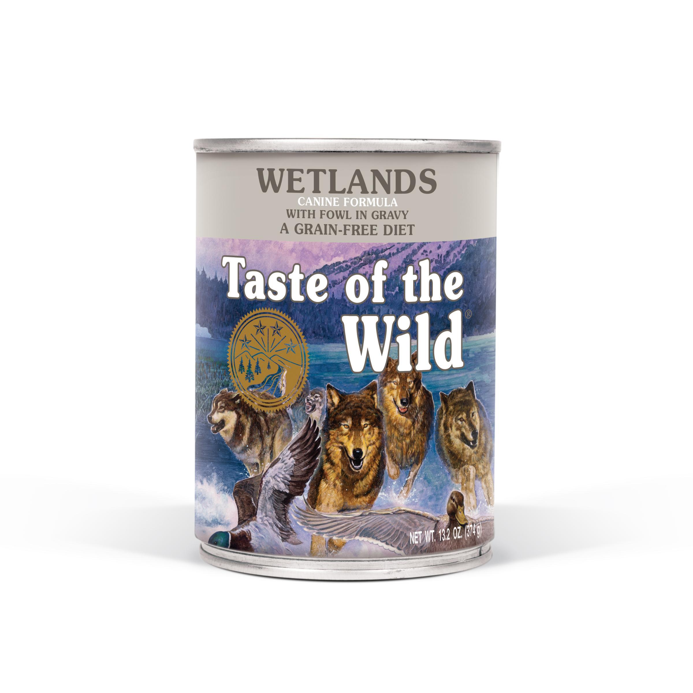 Taste of the Wild Wetlands Grain-Free Canned Dog Food, 13.2-oz