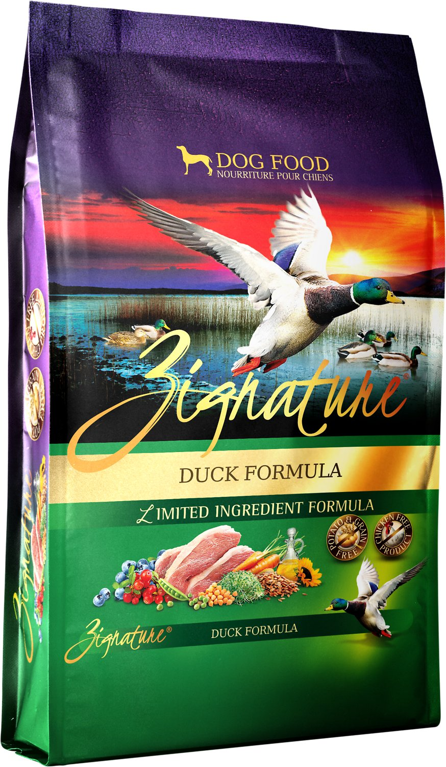 Zignature Duck Limited Ingredient Formula Grain-Free Dry Dog Food Image