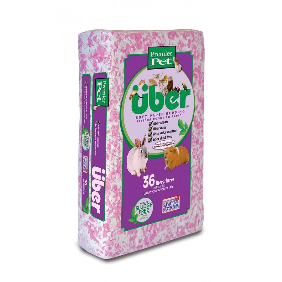 Premier Pet über Soft Paper Bedding, White & Pink, 36-L