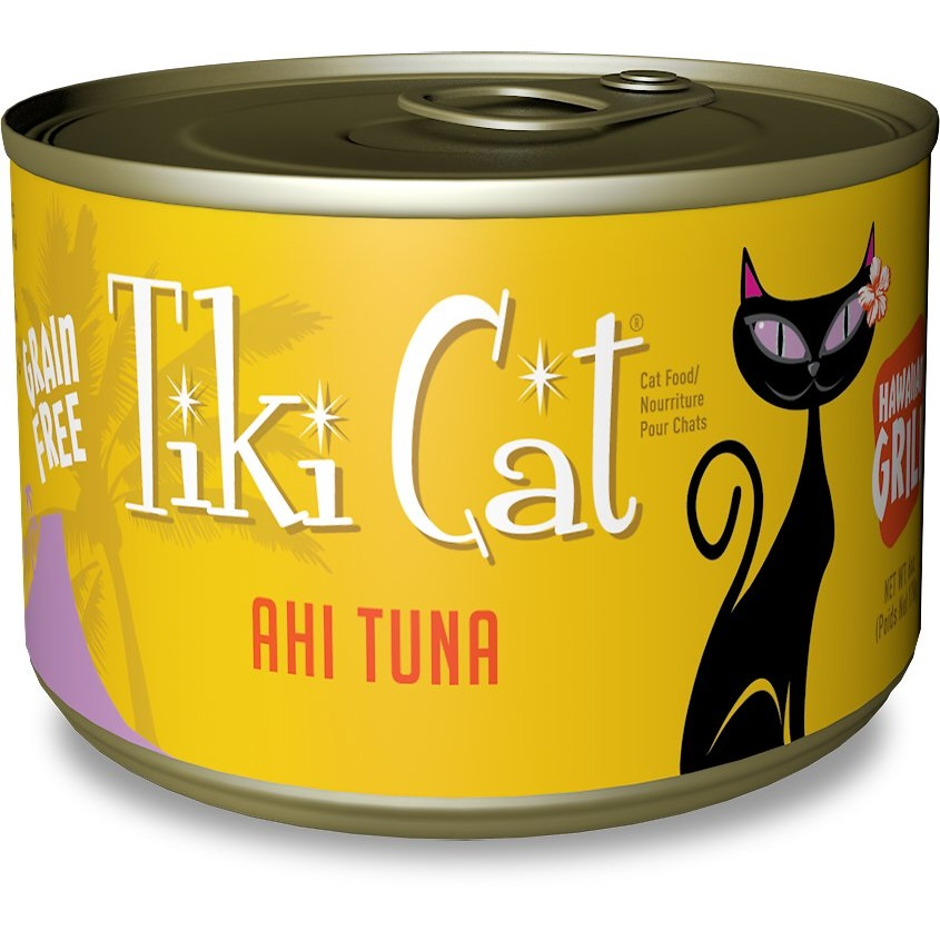 Tiki Cat Hawaiian Grill Ahi Tuna Grain-Free Canned Cat Food, 6-oz