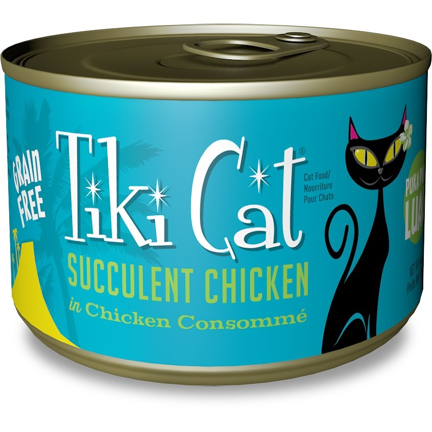 Tiki Cat Puka Puka Luau Succulent Chicken in Chicken Consomme Grain-Free Canned Cat Food, 6-oz