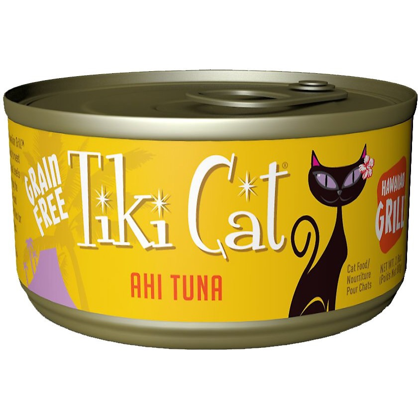Tiki Cat Hawaiian Grill Ahi Tuna Grain-Free Canned Cat Food, 2.8-oz