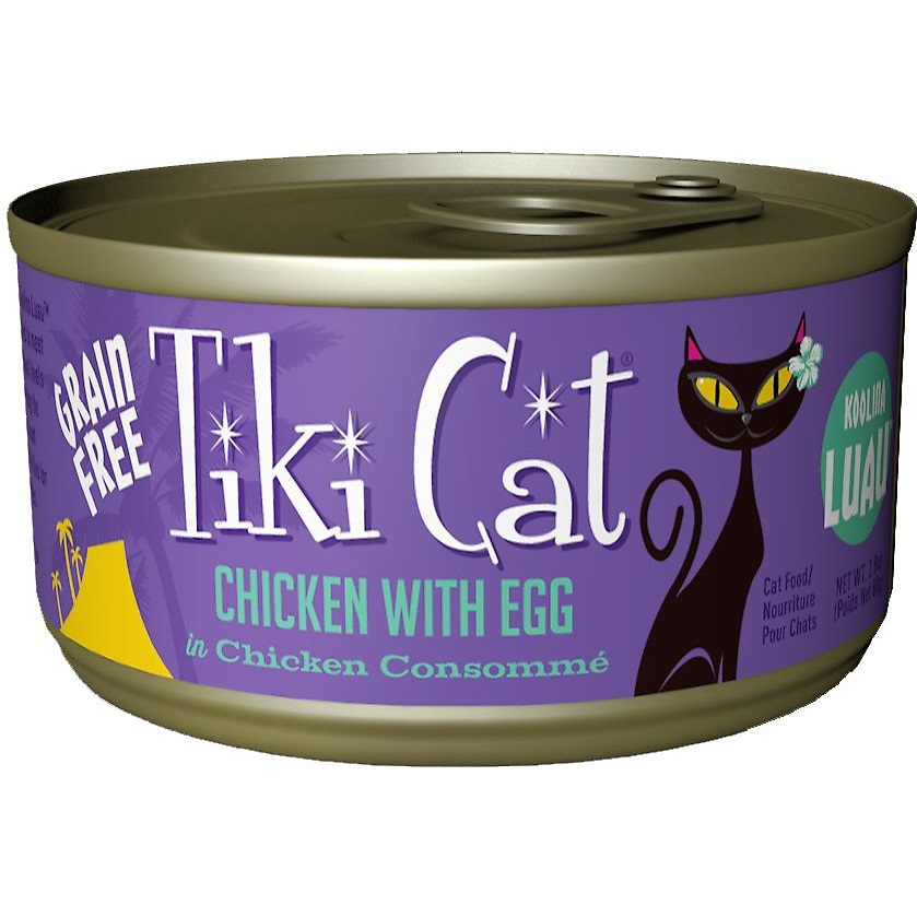 Tiki Cat Koolina Luau Chicken with Egg in Chicken Consomme Grain-Free Canned Cat Food, 2.8-oz