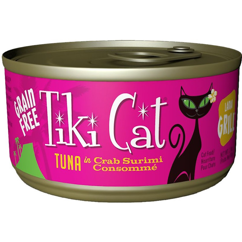 Tiki Cat Lanai Grill Tuna in Crab Surimi Consomme Grain-Free Canned Cat Food, 2.8-oz