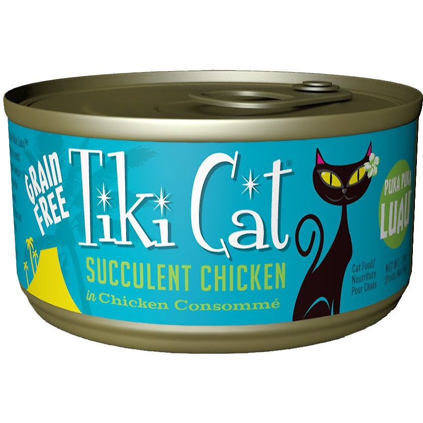 Tiki Cat Puka Puka Luau Succulent Chicken in Chicken Consomme Grain-Free Canned Cat Food, 2.8-oz