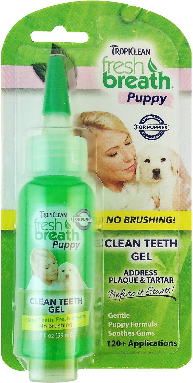 TropiClean Fresh Breath Puppy Clean Teeth Gel, 2-oz bottle