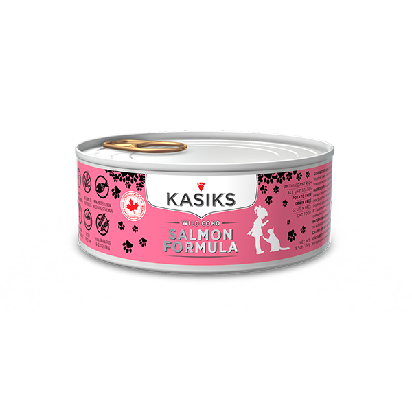 KASIKS Wild Coho Salmon Formula Grain-Free Canned Cat Food, 5.5-oz