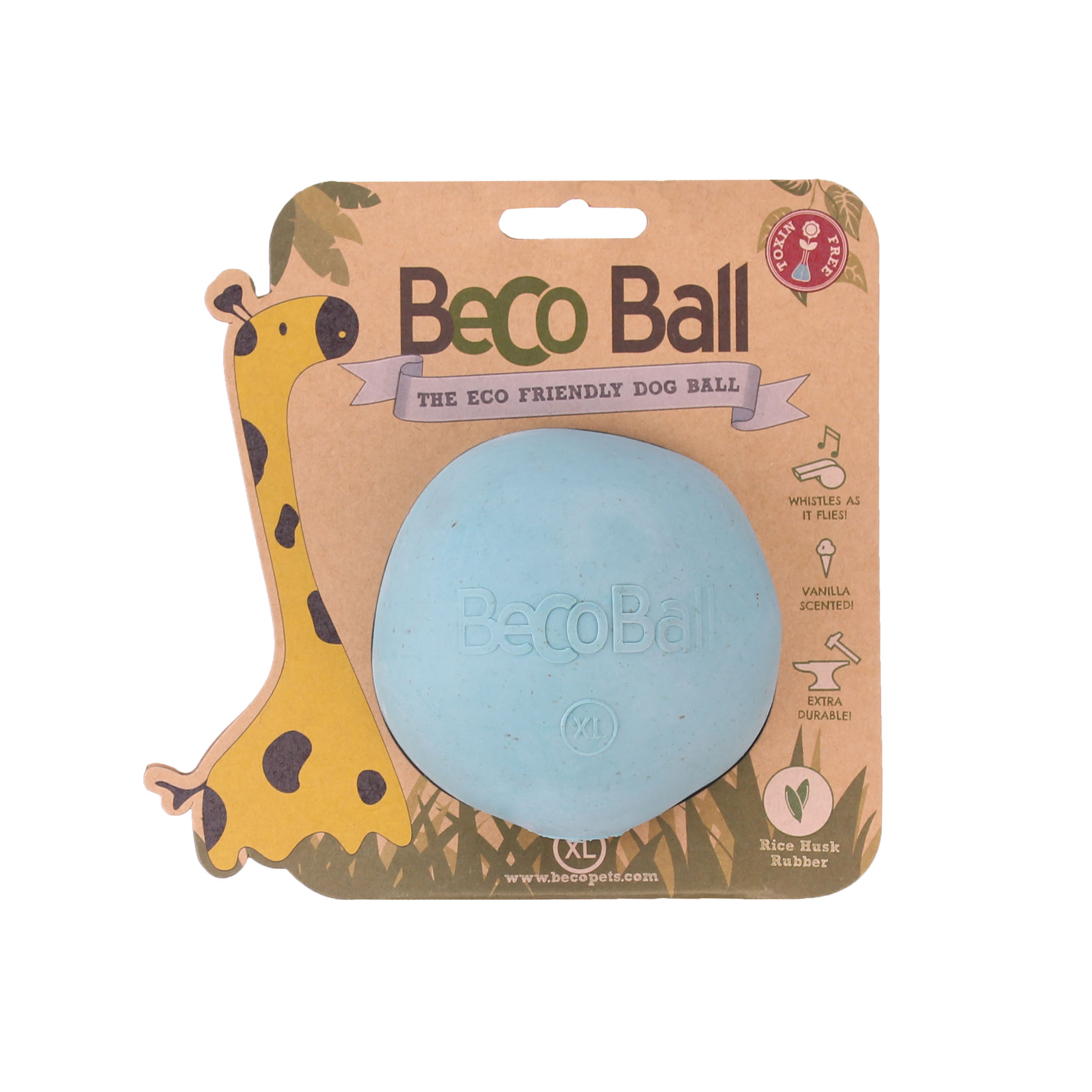Beco Ball Dog Toy Dog Toy, Blue, Small