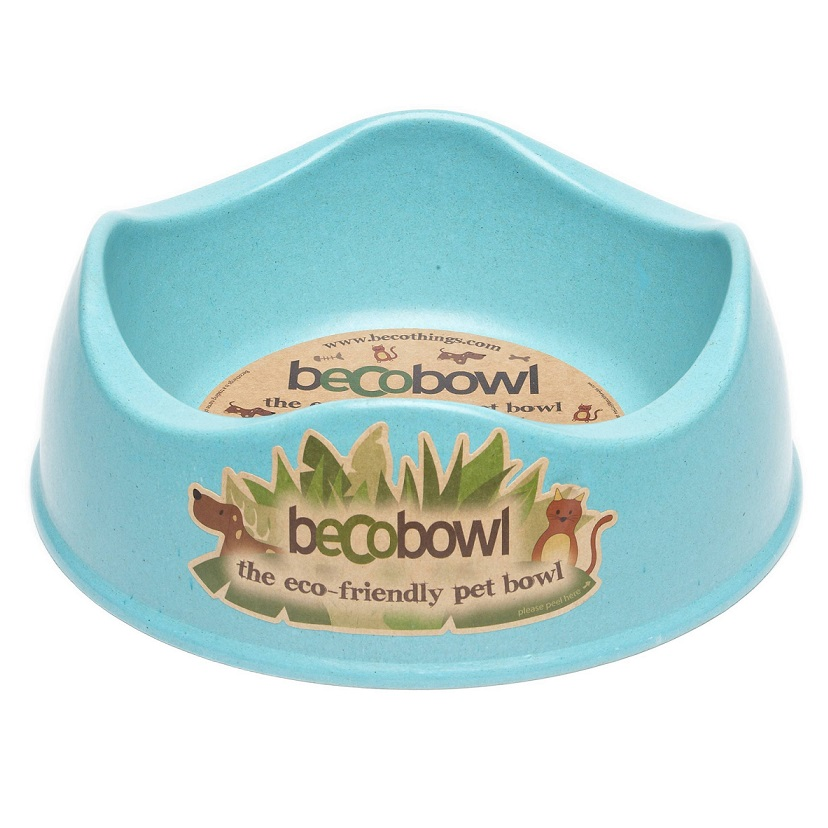 Beco Dog & Cat Bowl, Blue, Small 6.6-in