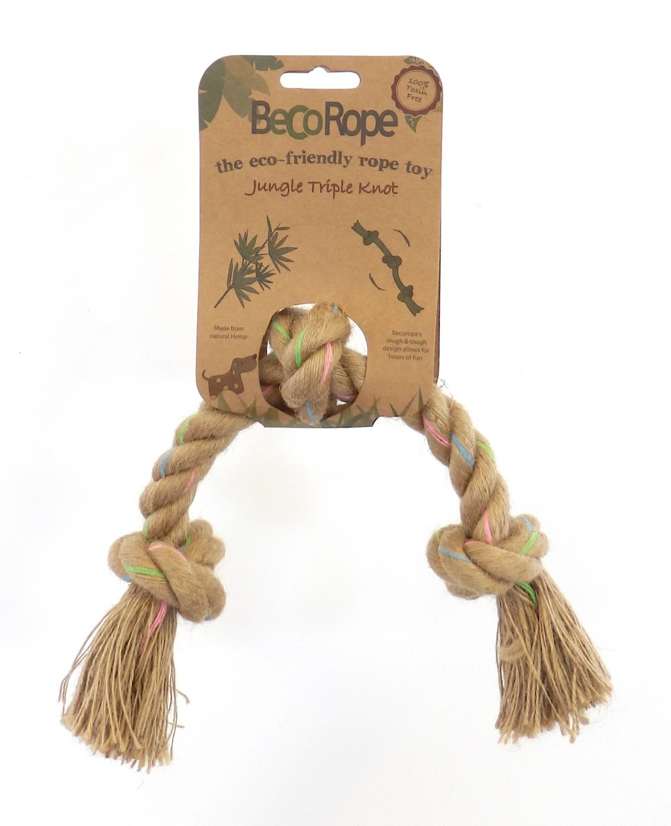 Beco Rope Jungle Triple Knot Dog Toy, Small
