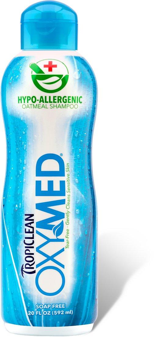 TropiClean OXY-MED Hypo-Allergenic Oatmeal Dog & Cat Shampoo, 20-oz bottle