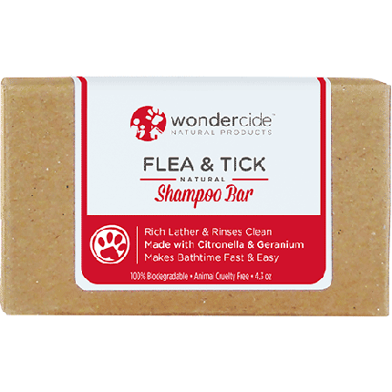Wondercide 'FLEA & TICK' Natural Shampoo Bar with Citronella & Geranium for Dogs & Cats 4.3z (Size: 4.3-oz) Image
