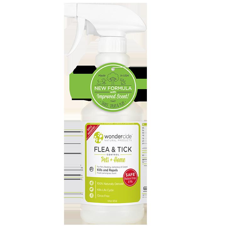 Wondercide 'FLEA & TICK' Natural Flea, Tick & Mosquito Control for Dogs, Cats & Home - Lemongrass Scent, 16-oz
