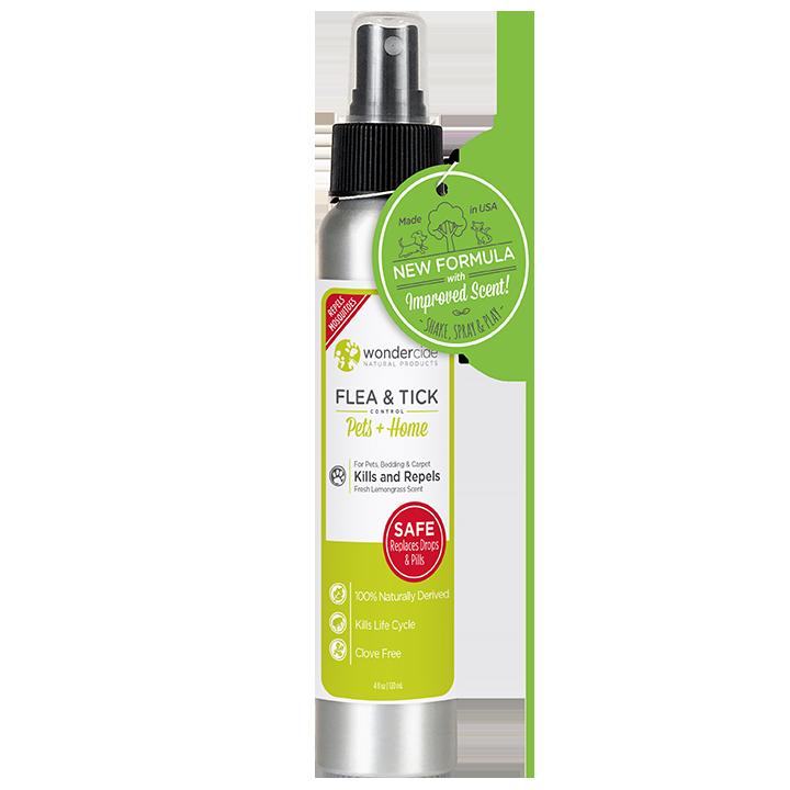 Wondercide 'FLEA & TICK' Natural Flea, Tick & Mosquito Control for Dogs, Cats & Home - Lemongrass Scent, 4-oz