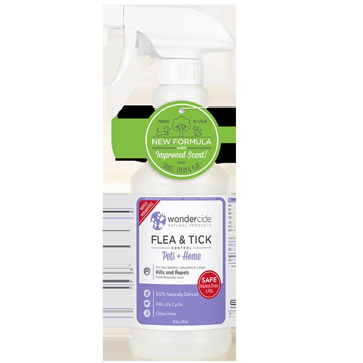 Wondercide 'FLEA & TICK' Natural Flea, Tick & Mosquito Control for Dogs, Cats & Home - Rosemary Scent, 32-oz