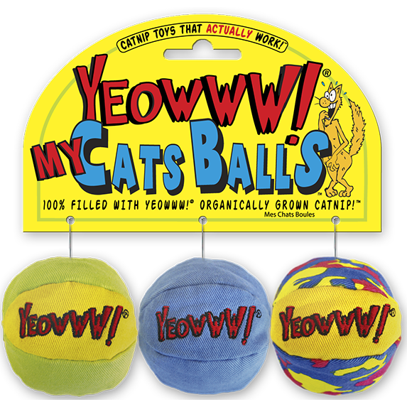 Yeowww! My Cats Balls Cat Toy, 3-pack