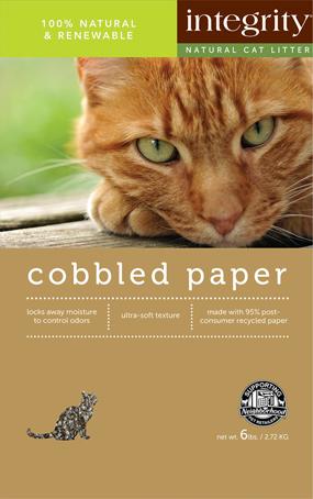 Integrity Natural Cobbled Paper Cat Litter, 12lb