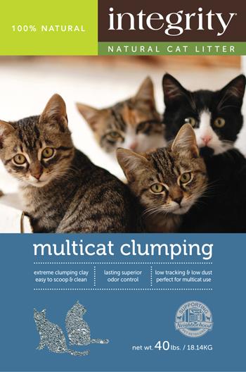 Integrity Natural Multi-Cat Clumping Cat Litter, 40-lb