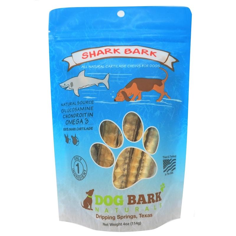 Dog Bark Naturals Shark Bark Dog Treats, 4-oz Bag