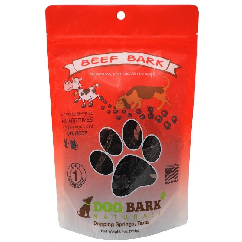Dog Bark Naturals Beef Bark Dog Treats, 4-oz Bag