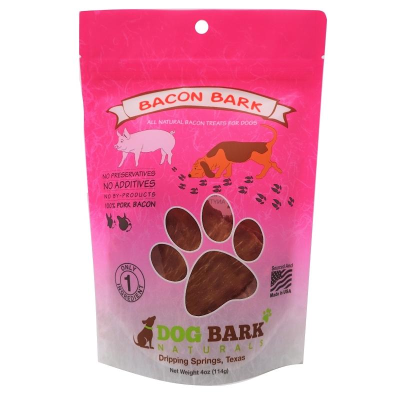 Dog Bark Naturals Bacon Bark Dog Treats, 4-oz Bag