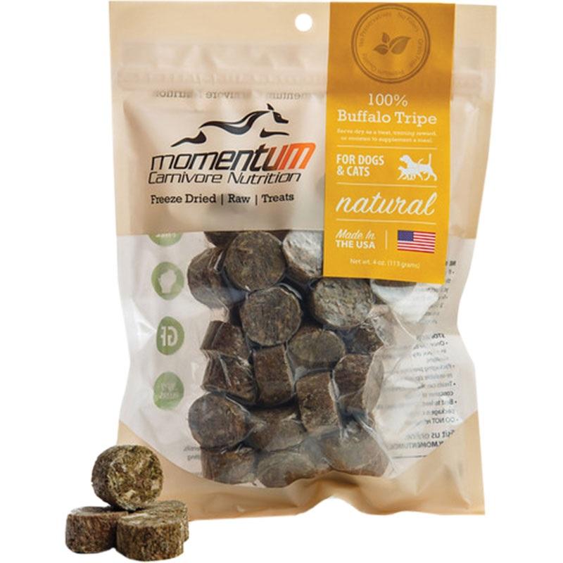Momentum Freeze-Dried Buffalo Tripe for Dogs & Cats, 4-oz Bag