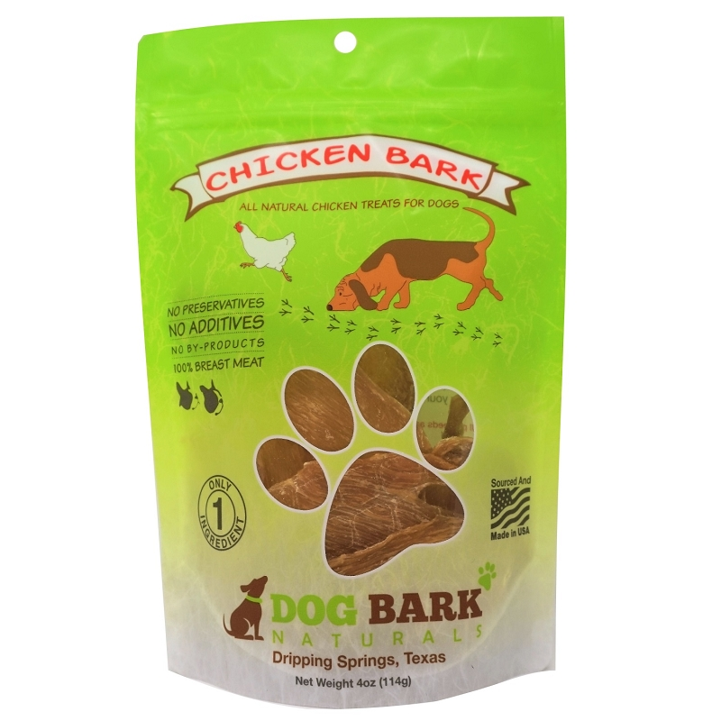 Dog Bark Naturals Chicken Bark Dog Treats, 4-oz Bag