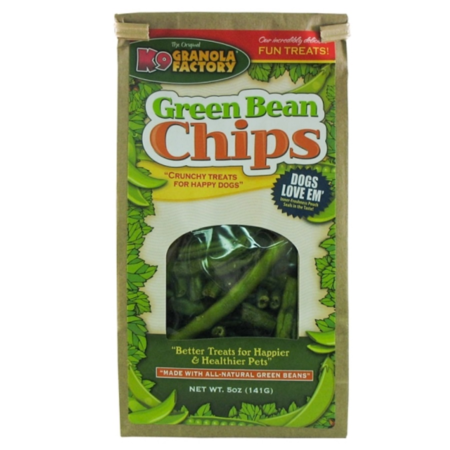 K9 Granola Factory Green Bean Chips Dog Treats, 5-oz (Size:  5-oz) Image