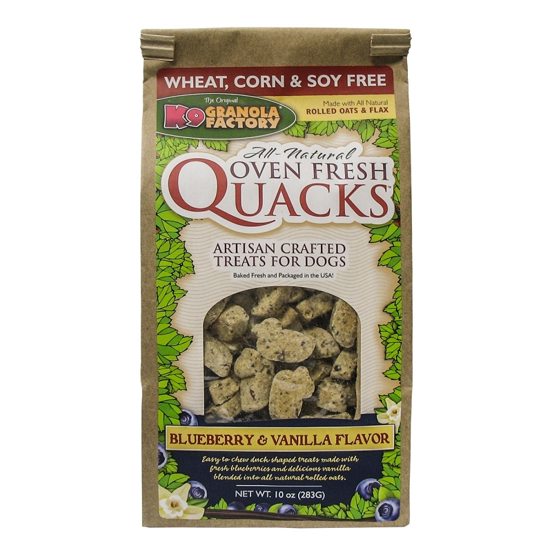 K9 Granola Factory Quacks Blueberry & Vanilla Flavor Dog Treats, 10-oz