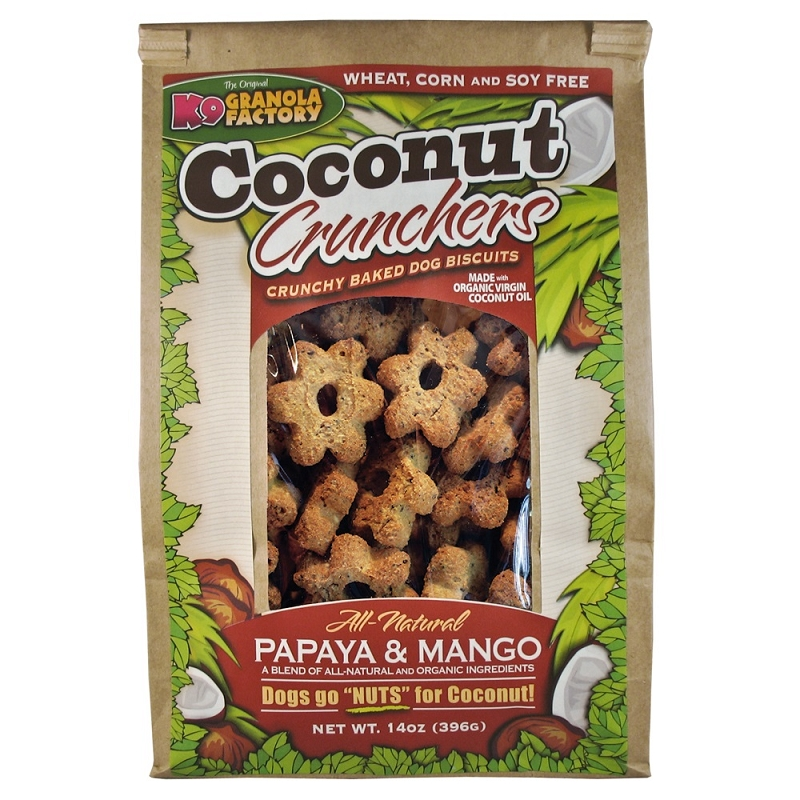 K9 Granola Factory Coconut Crunchers Mango and Papaya Dog Treats, 14-oz