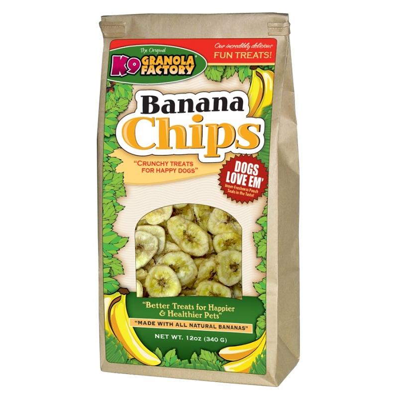 K9 Granola Factory Banana Chips Dog Treats, 12-oz Bag