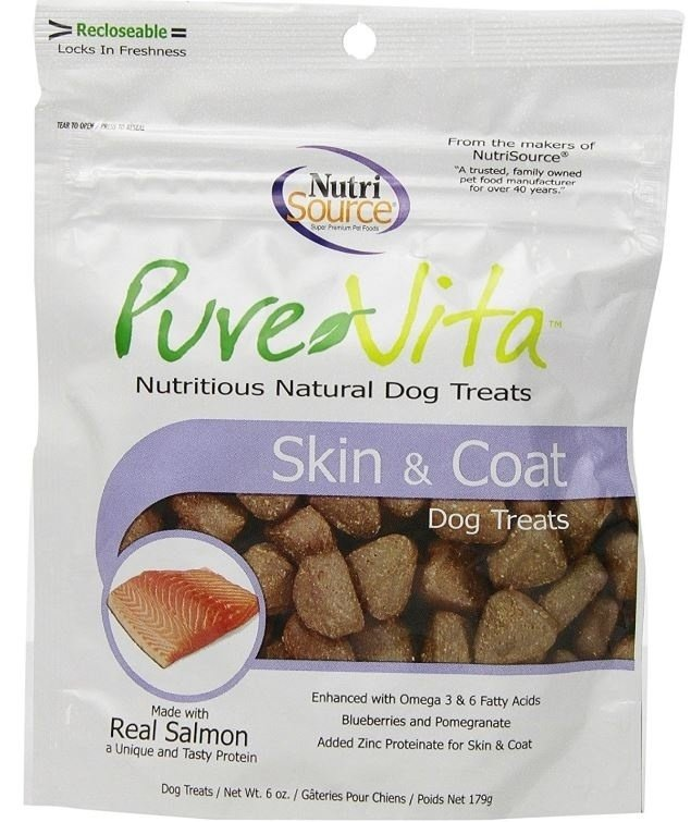 PureVita Skin And Coat Dog Treats, 6-oz (Size: 6-oz) Image