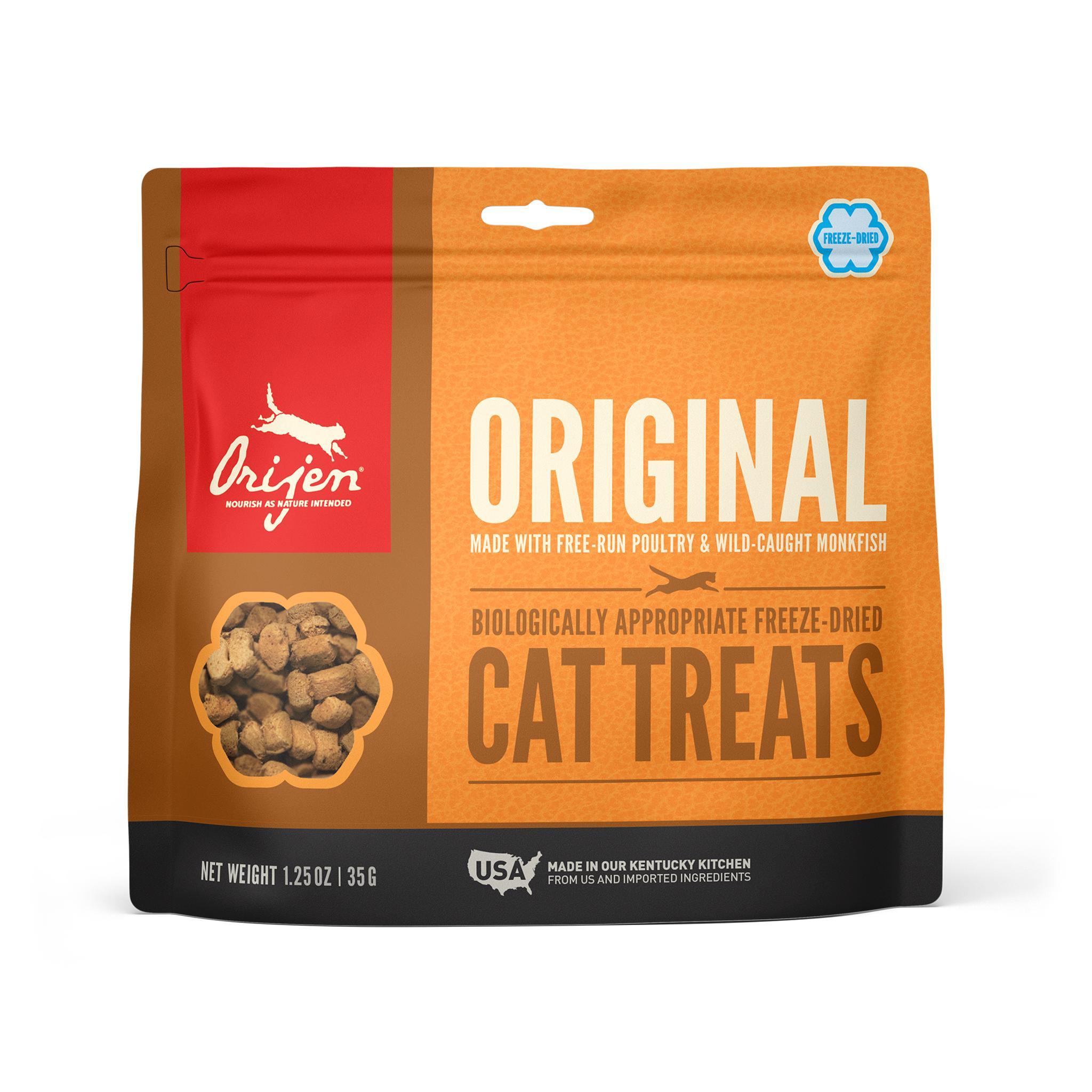 ORIJEN Original Grain-Free Freeze-Dried Cat Treats, 1.25-oz