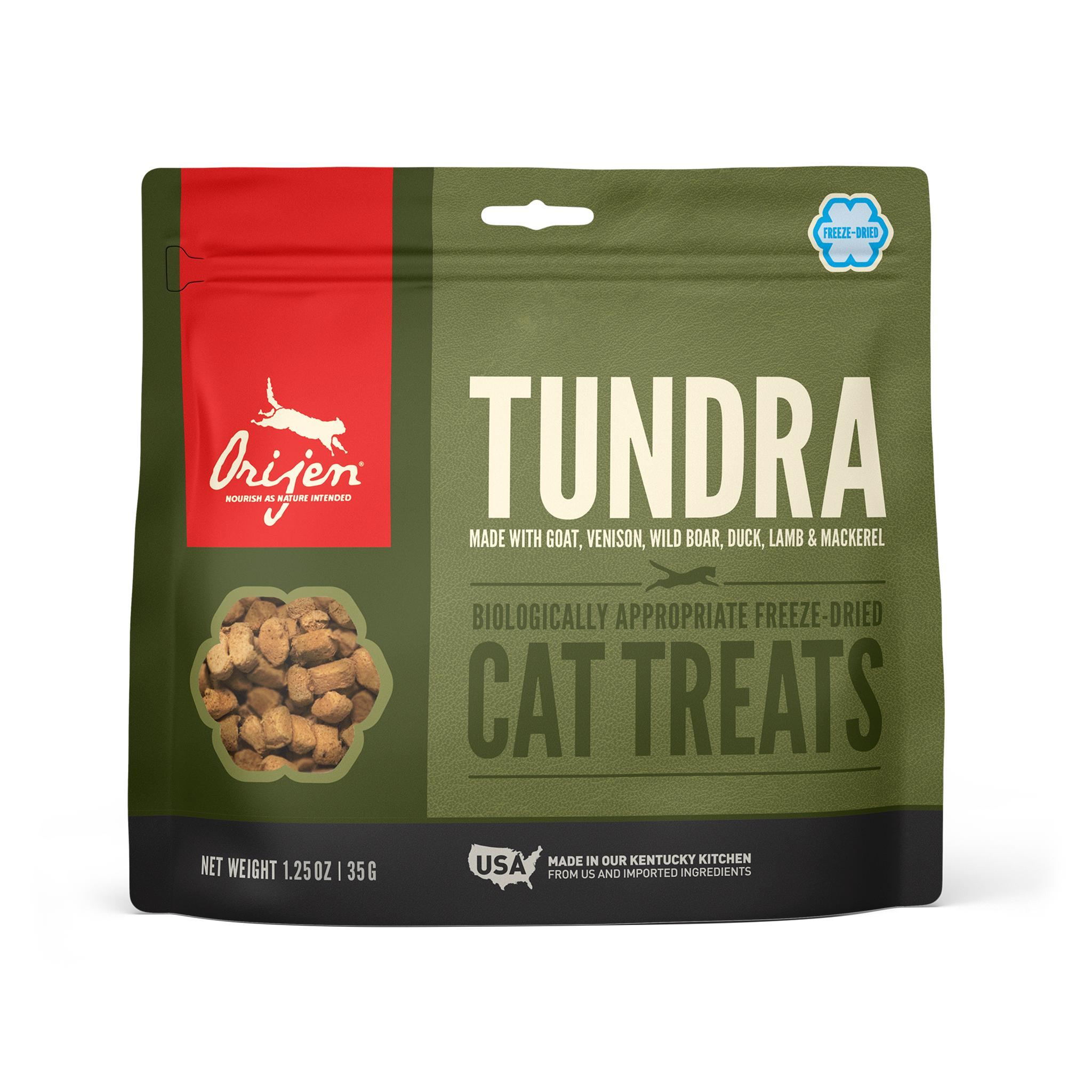 ORIJEN Tundra Grain-Free Freeze-Dried Cat Treats, 1.25-oz