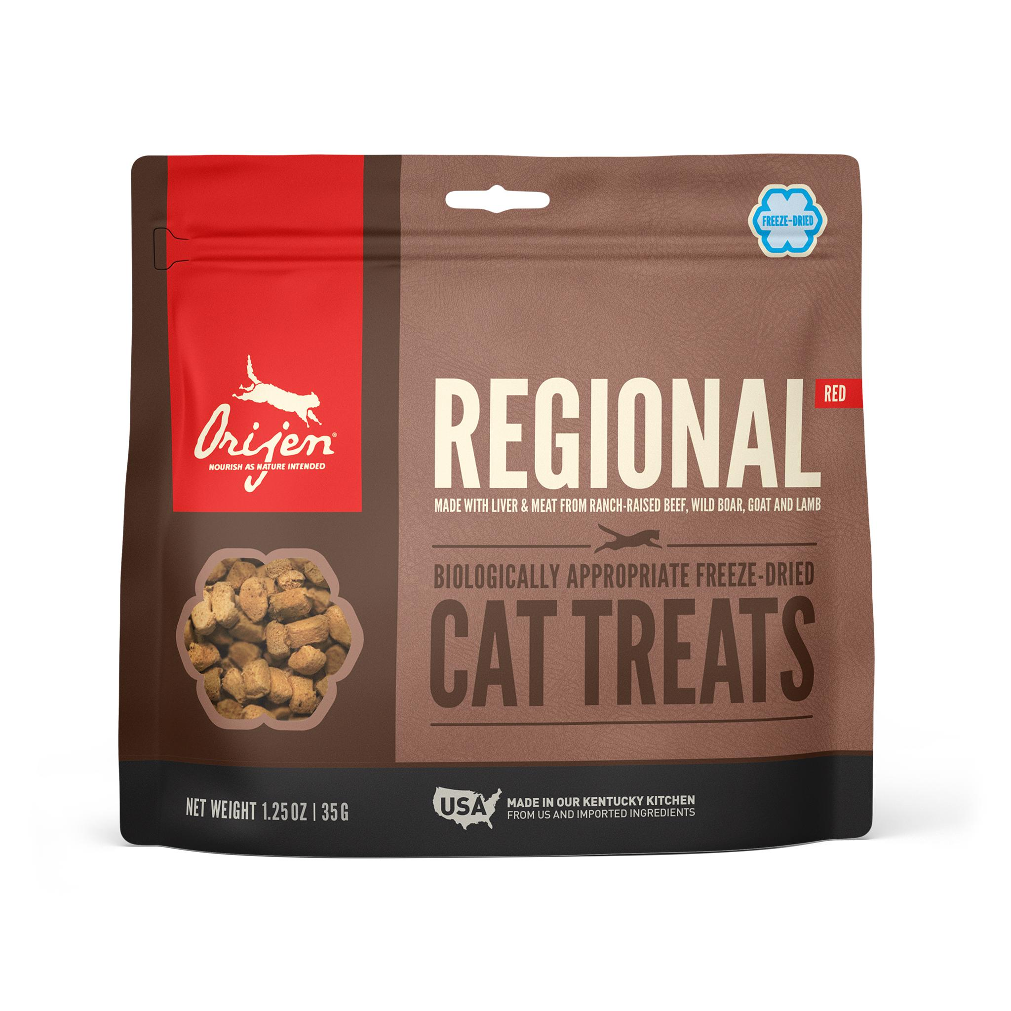 ORIJEN Regional Red Grain-Free Freeze-Dried Cat Treats, 1.25-oz