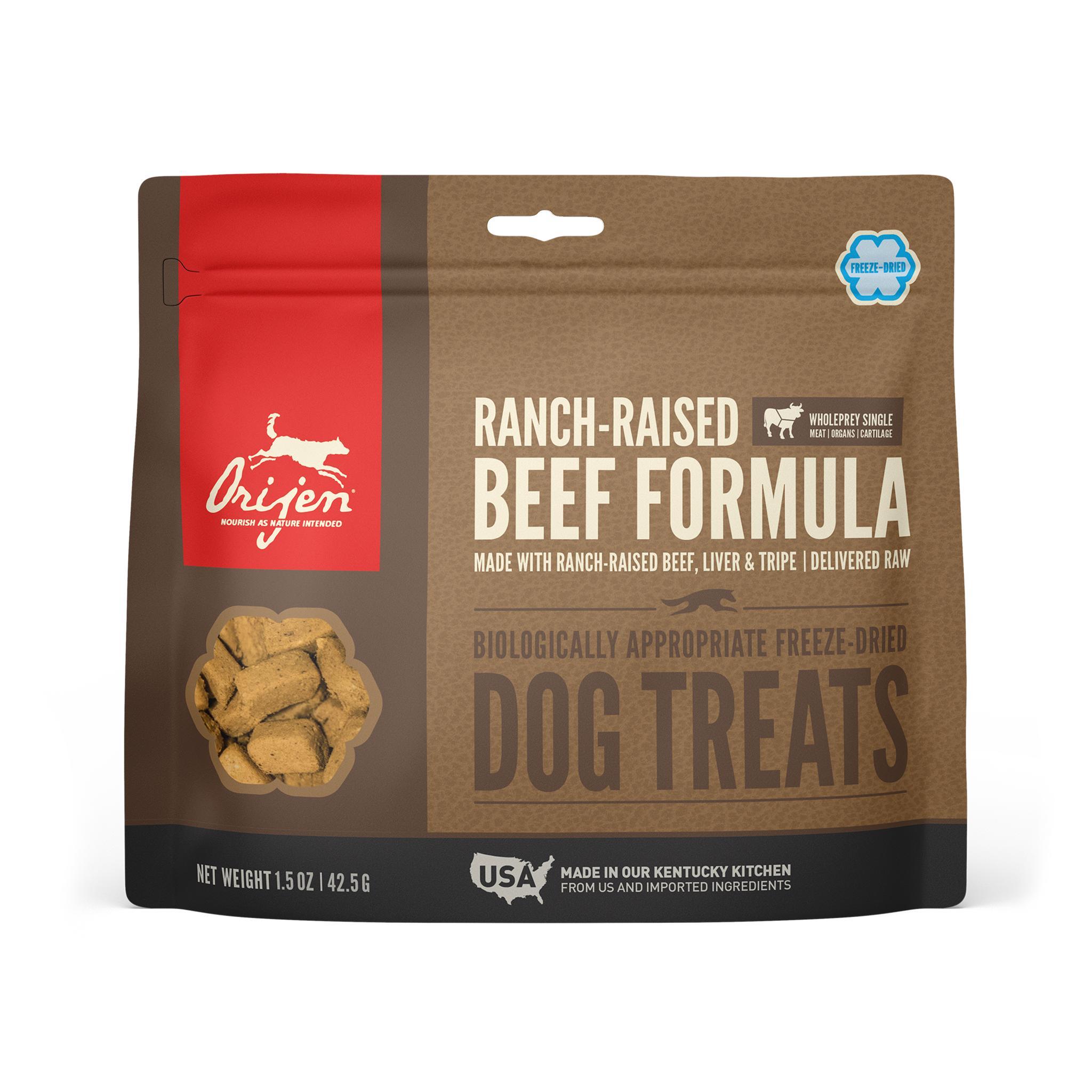 ORIJEN Ranch-Raised Beef Grain-Free Freeze-Dried Dog Treats, 1.5-oz