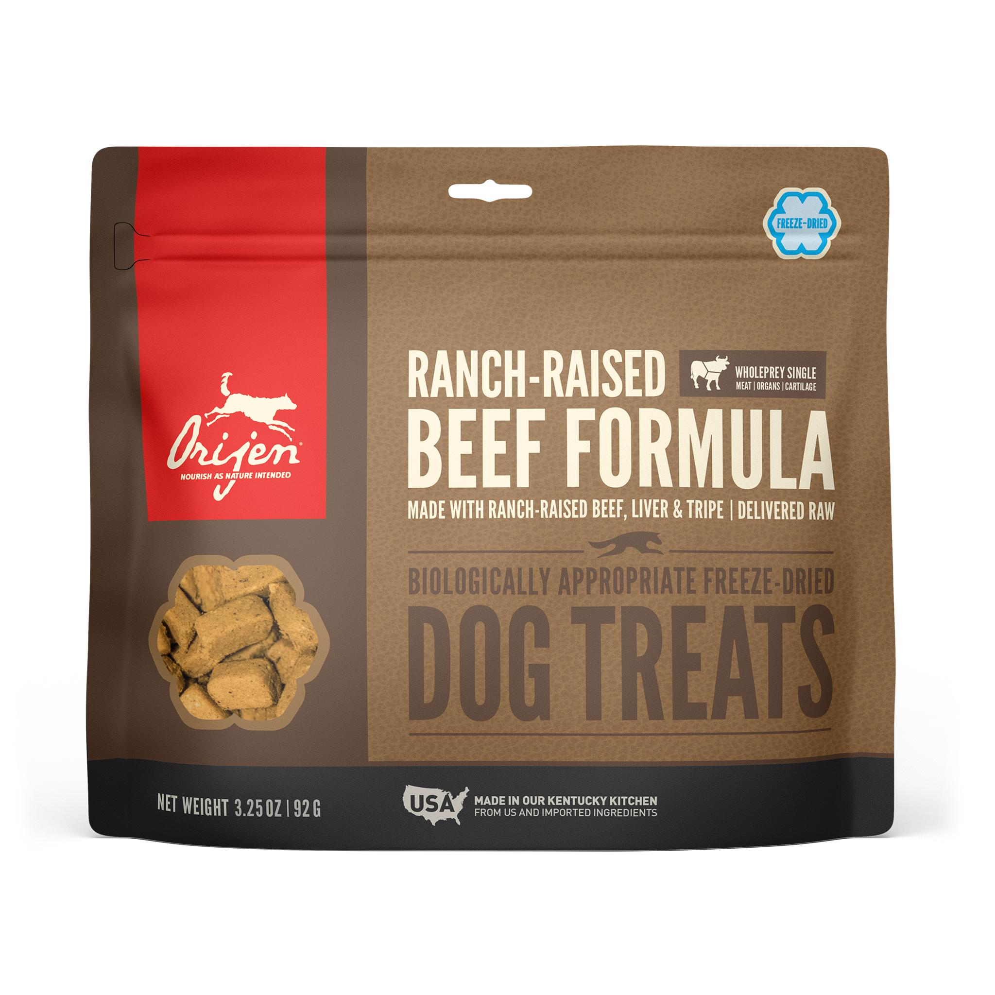 ORIJEN Ranch-Raised Beef Grain-Free Freeze-Dried Dog Treats, 3.25-oz