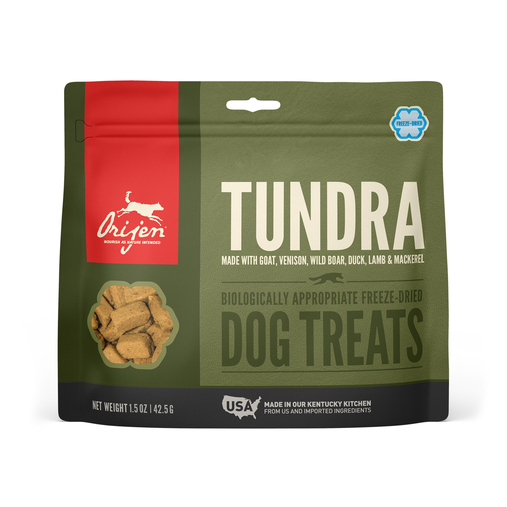 ORIJEN Tundra Grain-Free Freeze-Dried Dog Treats, 1.5-oz