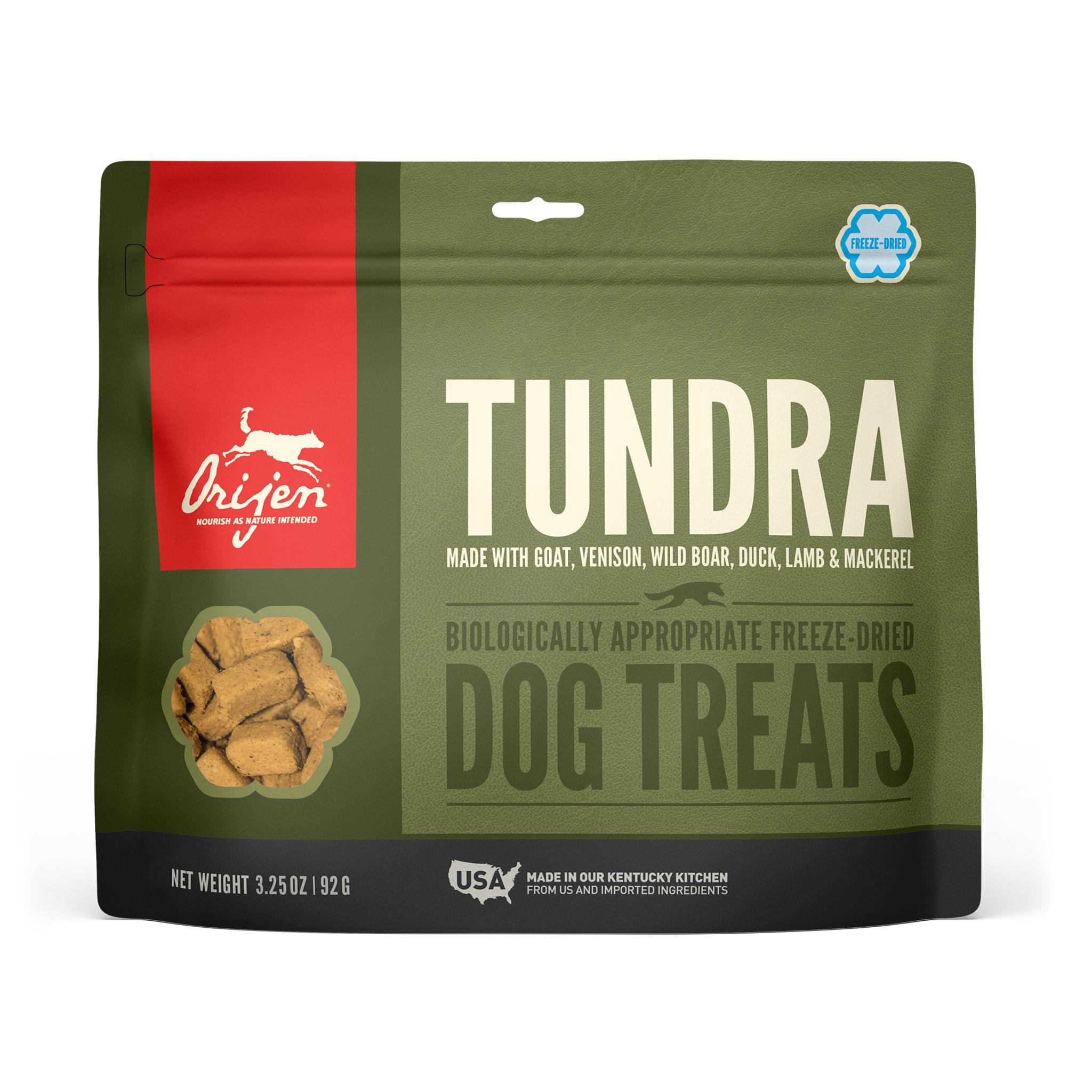 ORIJEN Tundra Grain-Free Freeze-Dried Dog Treats, 3.25-oz