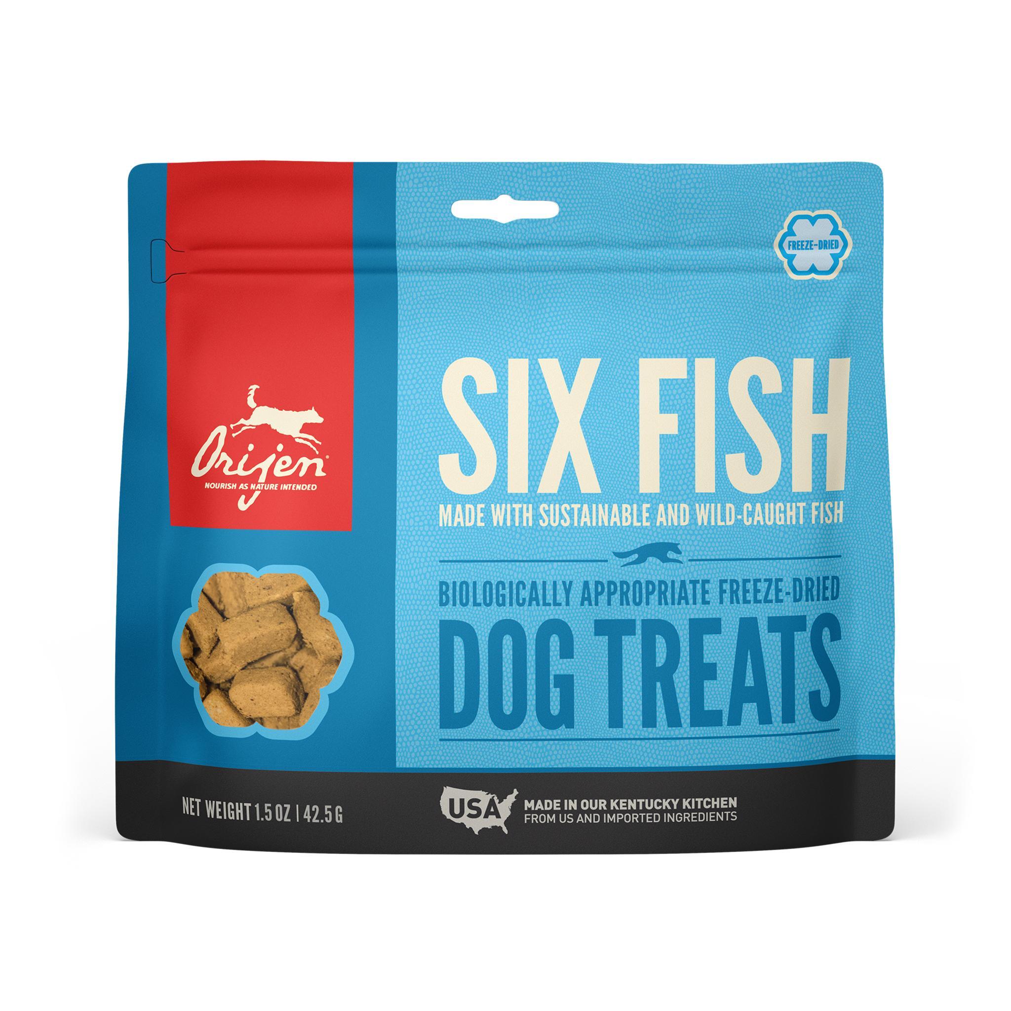 ORIJEN Six Fish Grain-Free Freeze-Dried Dog Treats Image