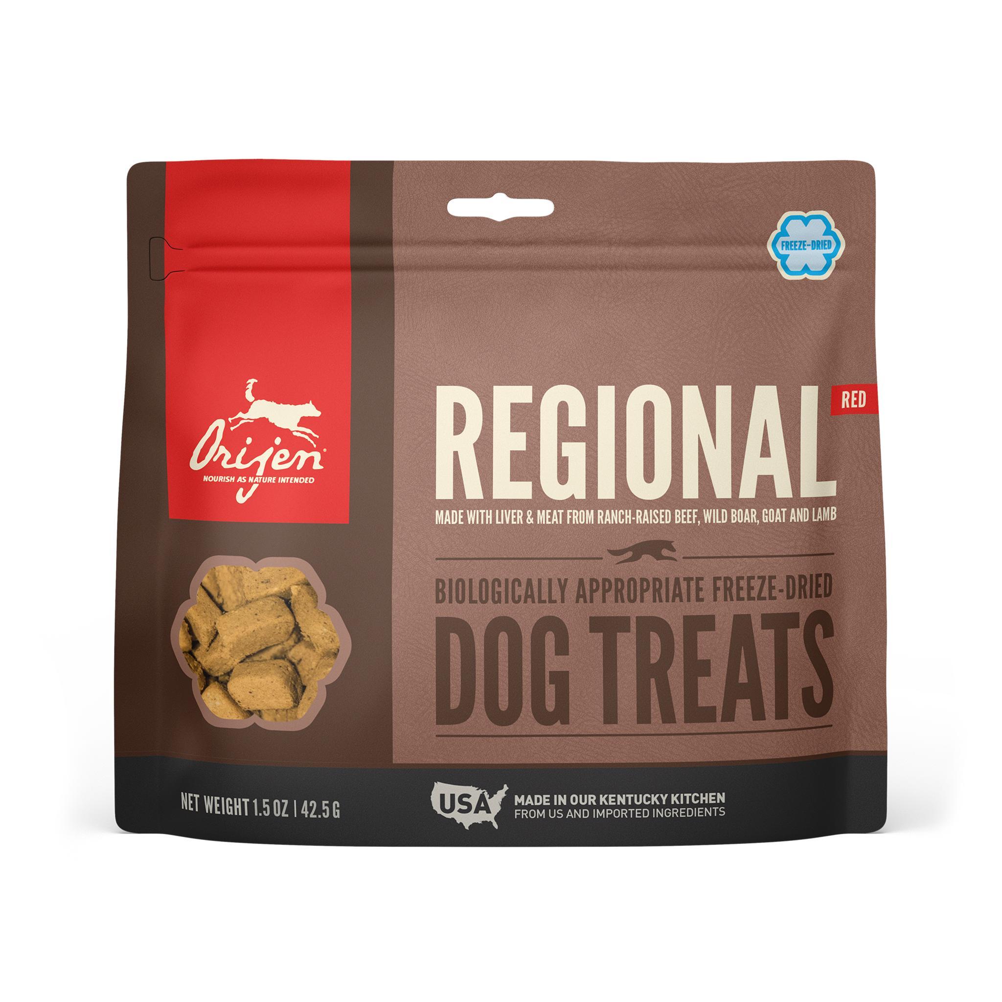 ORIJEN Regional Red Grain-Free Freeze-Dried Dog Treats, 1.5-oz