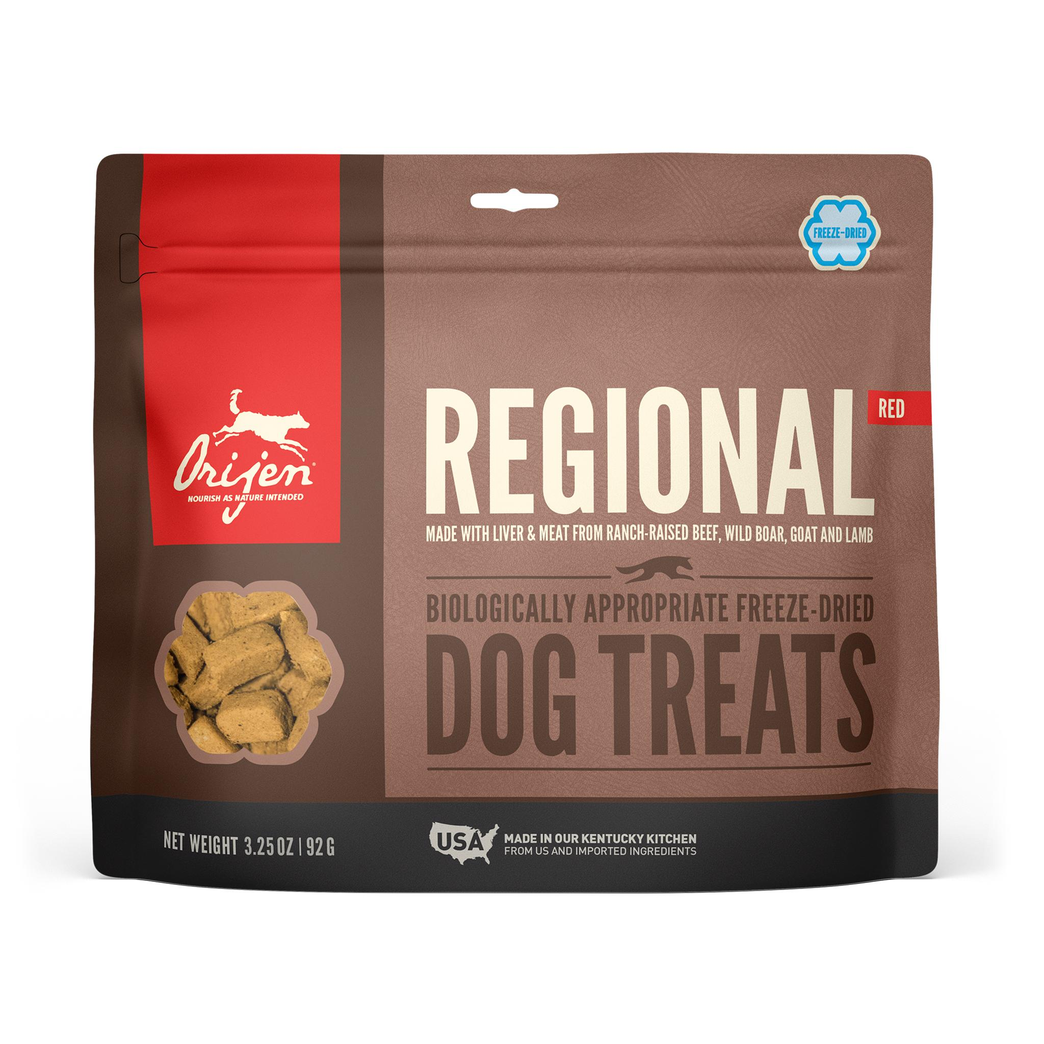 ORIJEN Regional Red Grain-Free Freeze-Dried Dog Treats, 3.25-oz