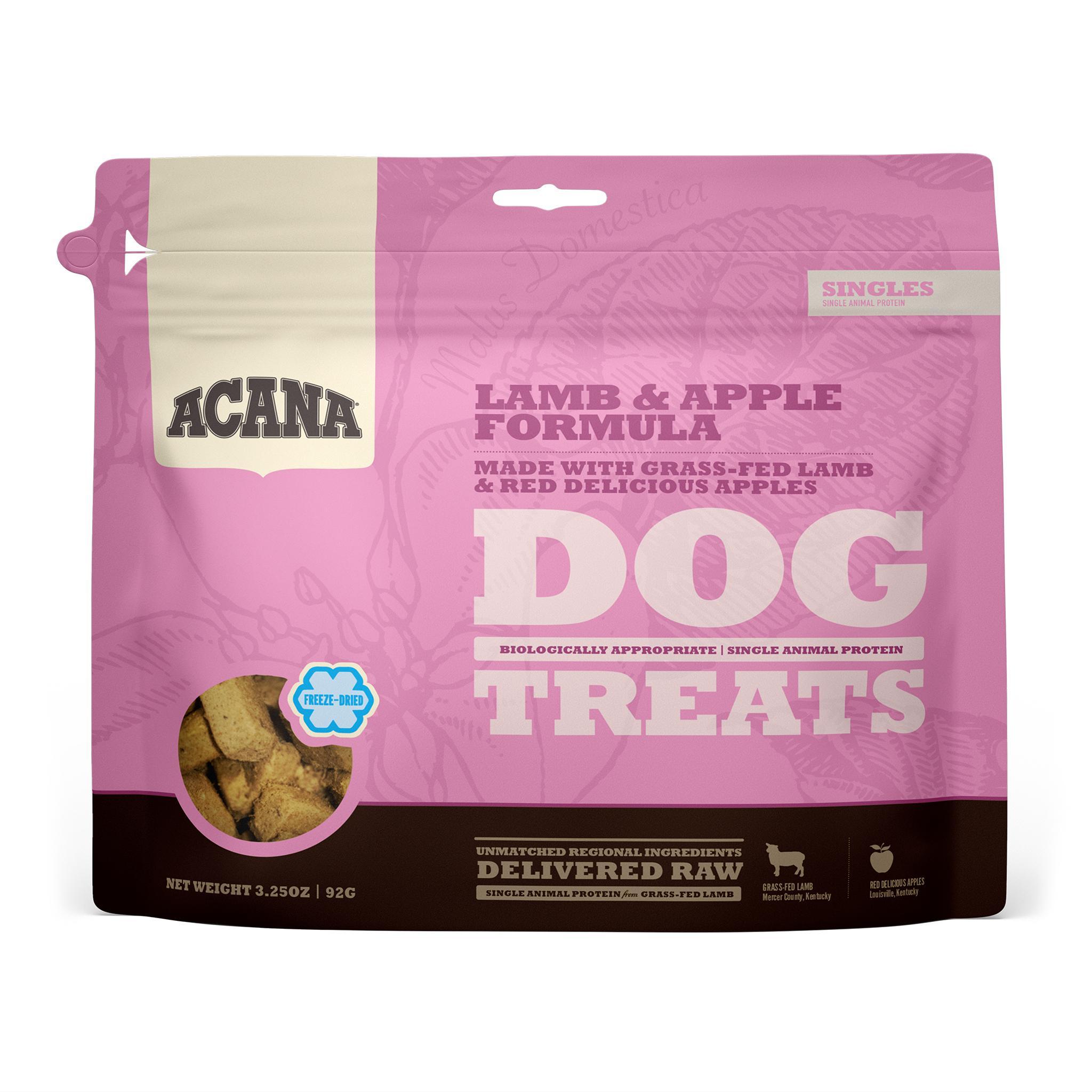 ACANA Singles Lamb & Apple Grain-Free Freeze-Dried Dog Treats, 3.25-oz